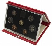 1987 Proof set red Leather deluxe
